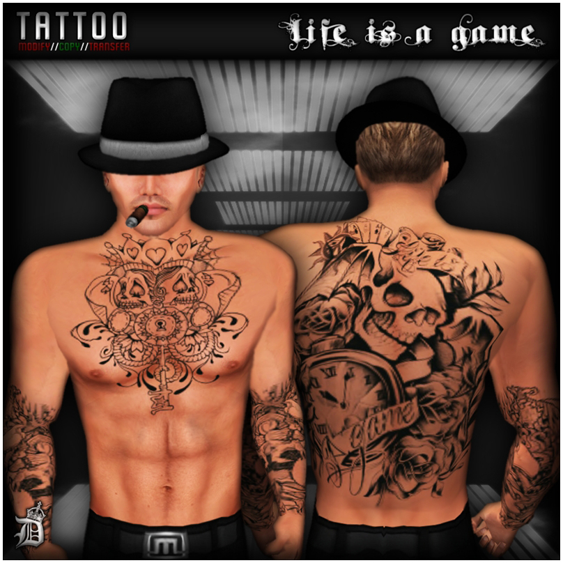 Tattoo Life Is A Game